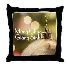 Vietnamese Merry Christmas Throw Pillow