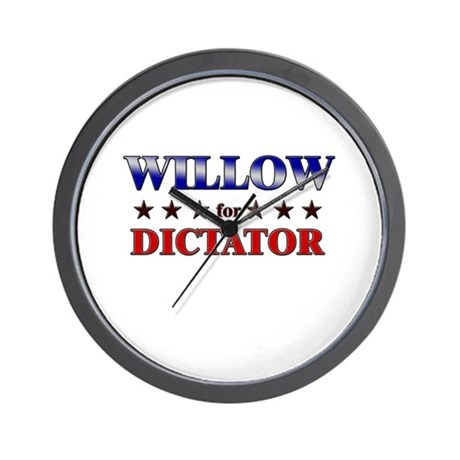 WILLOW for dictator Wall Clock