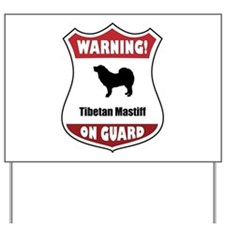 Mastiff On Guard Yard Sign