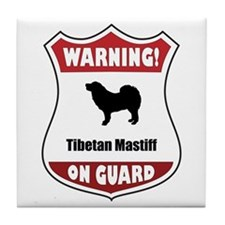 Mastiff On Guard Tile Coaster