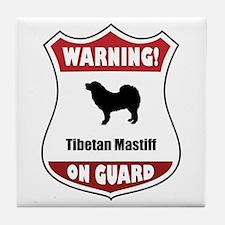 Mastiff On Guard Tile Coaster