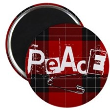 Punked up Peace Magnet