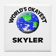 World's Okayest Skyler Tile Coaster
