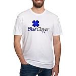 Blue Clover Tv Logo - Fitted T-Shirt