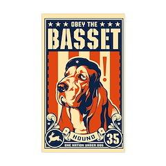 Obey the Basset Hound! Dictator Sticker