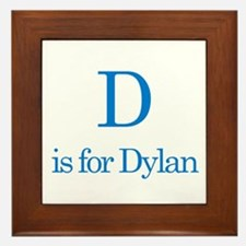 D is for Dylan Framed Tile