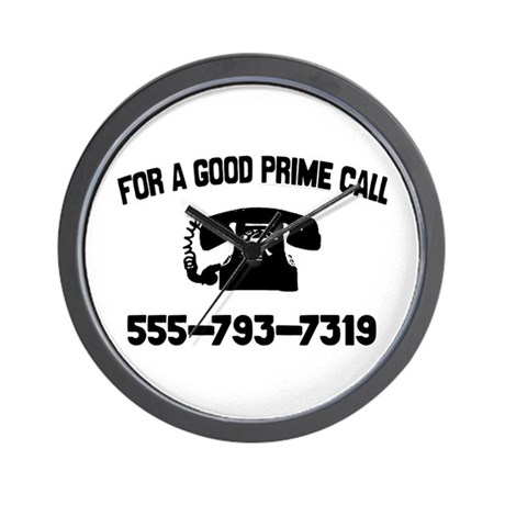 For A Good Prime Call Wall Clock