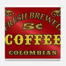 Fresh Brewed Coffee Tile Coaster