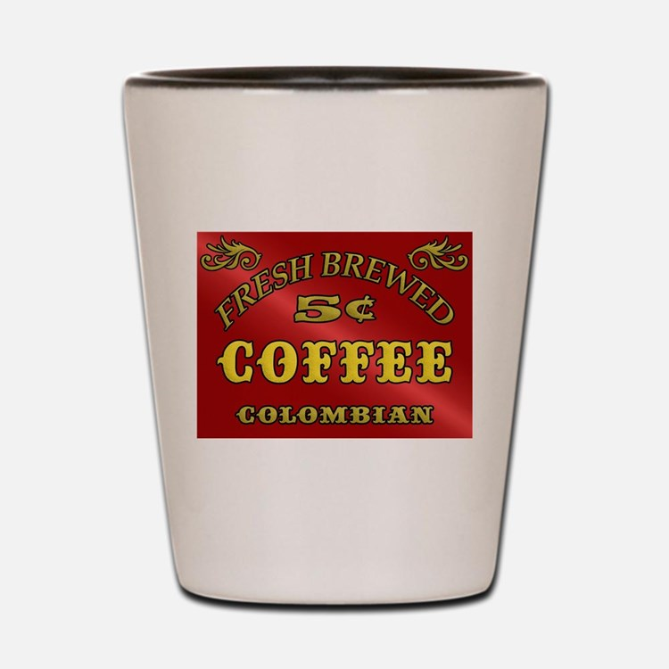 Fresh Brewed Coffee Shot Glass