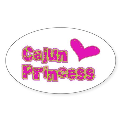 Cajun Princess Oval Sticker