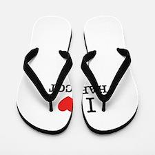 I Love HARICOT Flip Flops