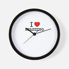 I Love SPAZZING Wall Clock