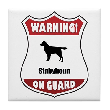 Staby On Guard Tile Coaster