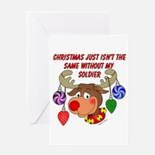 Christmas without my Soldier Greeting Card