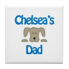 Chelsea's Dad Tile Coaster