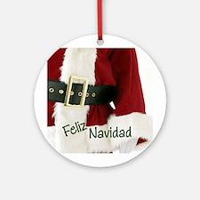 Spanish Santa Ornament (Round)