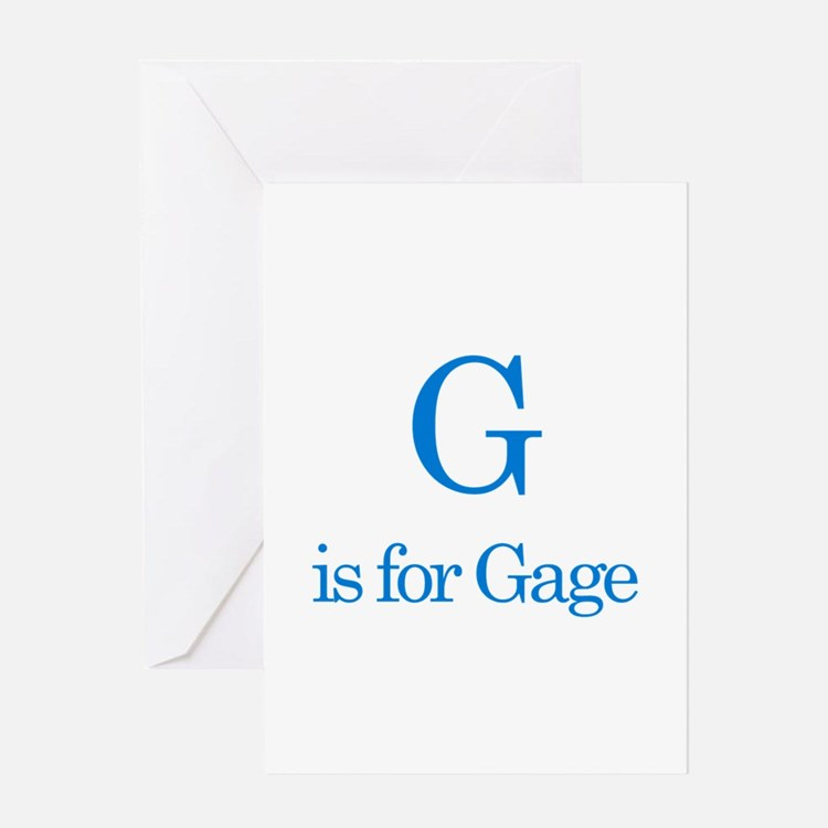 G is for Gage Greeting Card