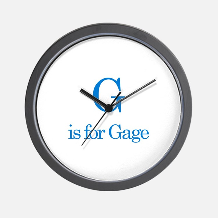 G is for Gage Wall Clock