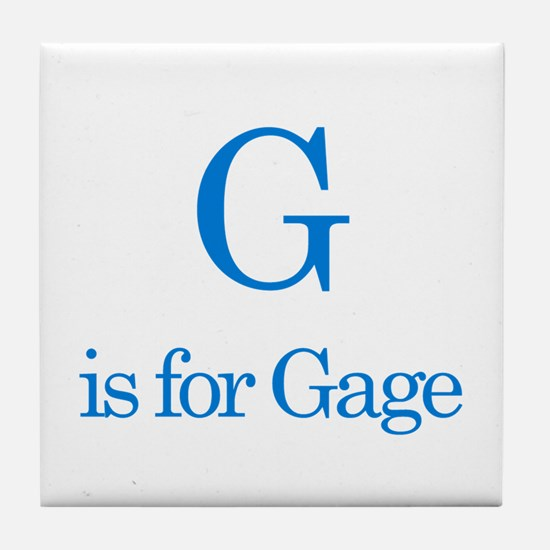 G is for Gage Tile Coaster