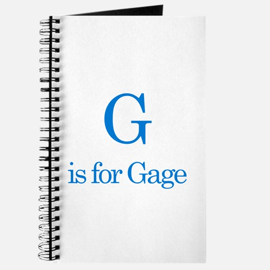 G is for Gage Journal