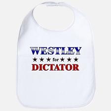 WESTLEY for dictator Bib