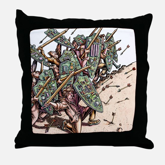 Internet Security Warriors Throw Pillow