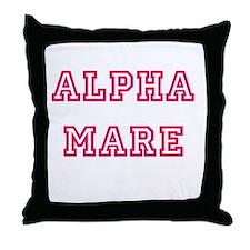 Alpha Mare Throw Pillow