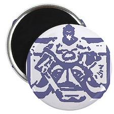 "Hockey goalie colored 2.25"" Magnet (10 pack)"