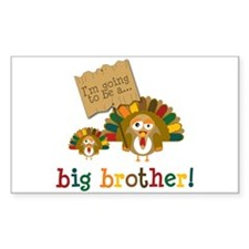 little turkey brother Rectangle Decal