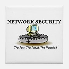 Network Security Tile Coaster
