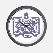 Hockey goalie colored Wall Clock