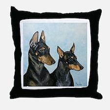 Manchester terriers Throw Pillow