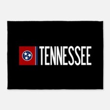 Tennessee: Tennessean Flag & Tennes 5'x7'Area Rug
