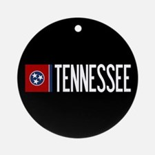 Tennessee: Tennessean Flag & Tennes Round Ornament