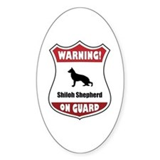 Shiloh On Guard Oval Decal