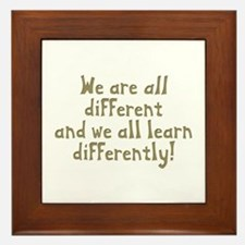 We're all Different Framed Tile