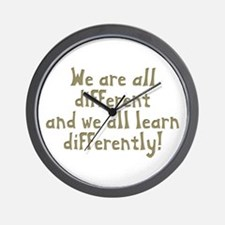 We're all Different Wall Clock