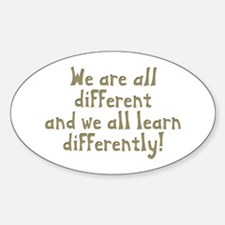 We're all Different Oval Decal