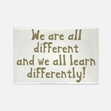 We're all Different Rectangle Magnet