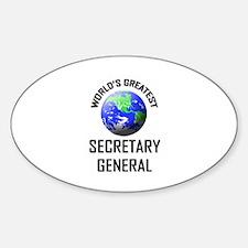 World's Greatest SECRETARY GENERAL Oval Decal
