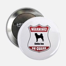 """Shiba On Guard 2.25"""" Button (100 pack)"""