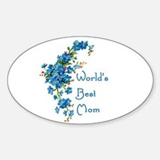 Worlds Best Mom Vintage Forget Me Not Flo Decal