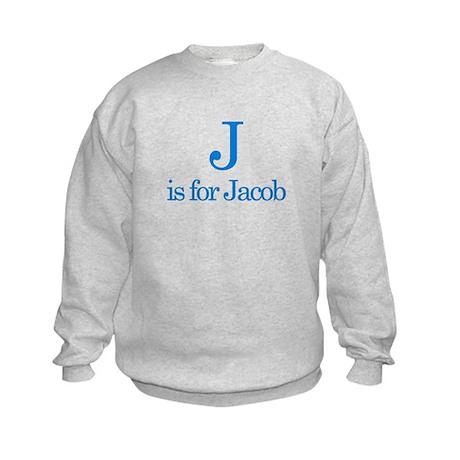 J is for Jacob Kids Sweatshirt