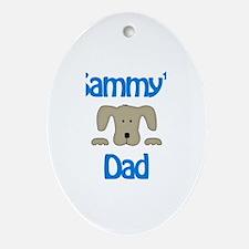 Sammy's Dad Oval Ornament