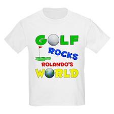 Golf Rocks Rolando's World - T-Shirt
