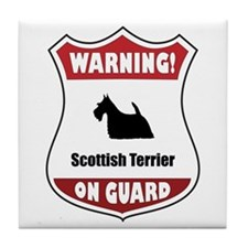 Scottie On Guard Tile Coaster