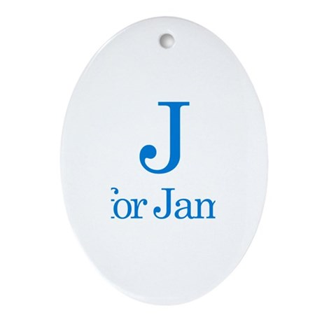 J is for James Oval Ornament