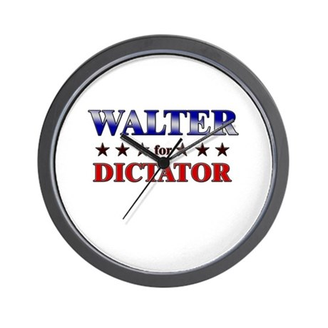 WALTER for dictator Wall Clock