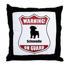 Schnoodle On Guard Throw Pillow