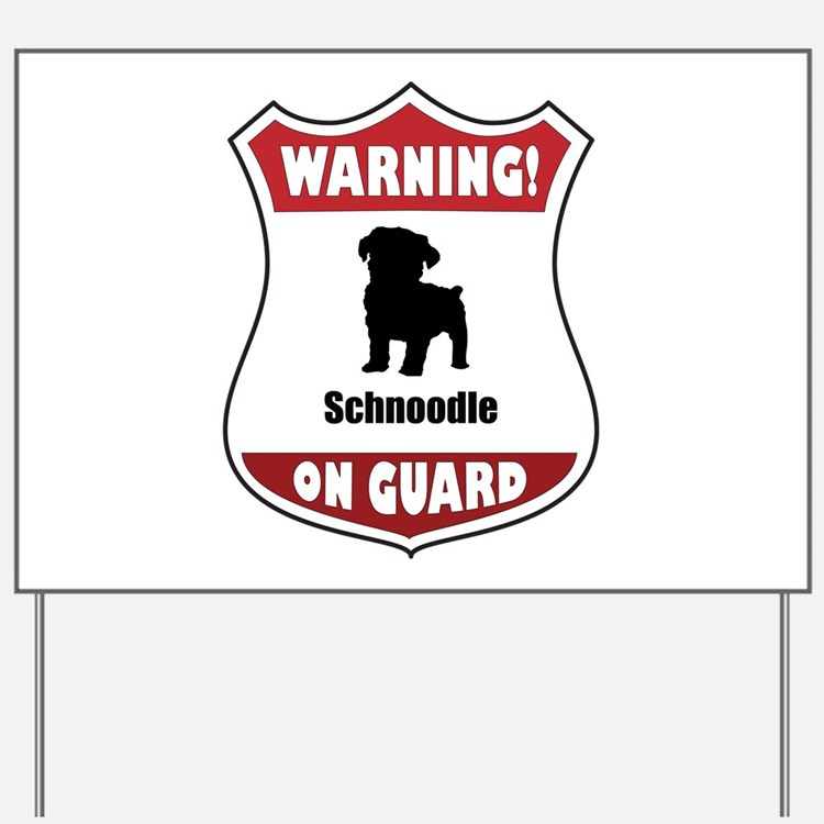 Schnoodle On Guard Yard Sign